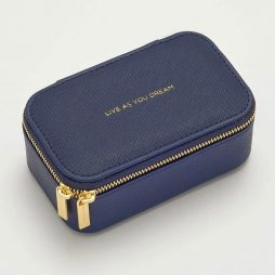 Estella Bartlett Navy Blue Mini Jewellery Box Live As You Dream - Personalised