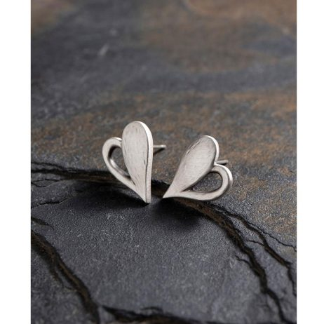 Danon Jewellery Simply You Heart Stud Earrings Silver