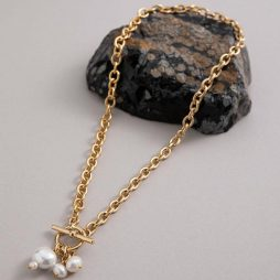 Danon Jewellery Moira Necklace Gold With Pearls