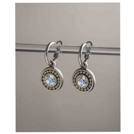 Danon Jewellery Louis 14th Crystal Drop Hoop Earrings E60018