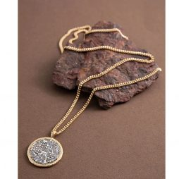 Danon Jewellery Long Gold Plated Necklace with Swarovski Crystals Pendant