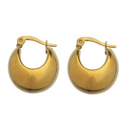 Hultquist Copenhagen Gold Plated Haily Hoop Earrings