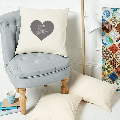 Personalized Couples Heart Cushion Cover | Decorative Home Throw Pillow Cover