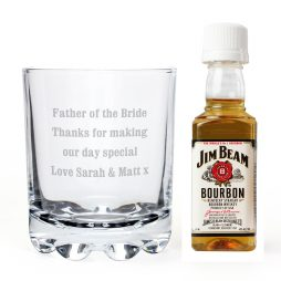 Personalised Tumbler and Jim Beam Miniature Set P0107D93