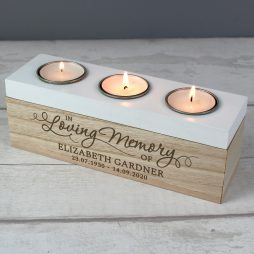 Personalised In Loving Memory Tea Light Holder | Memorial Gifts