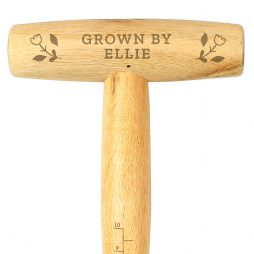 Personalised Floral Wooden Dibber P0111C61