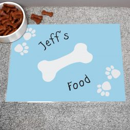 Personalised Blue Paw Print Dog Placemat P0512Q39