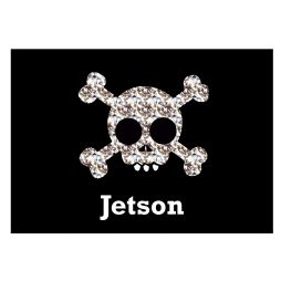 Personalised Skull and Crossbones Pet Placemat P0512Q62
