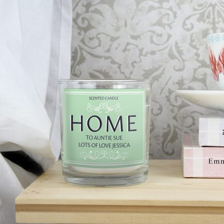 Gifts For Her Personalised HOME Scented Jar Candle