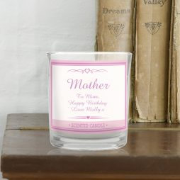 Personalised Mum Pink Elegant Scented Jar Candle