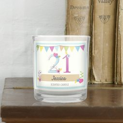 Personalised Birthday Craft Scented Jar Candle - Any Age P0512W33