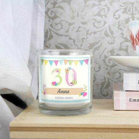 Personalised Birthday Craft Scented Jar Candle - Any Age