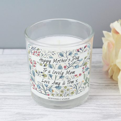 Birthday Gifts For Her Personalised Mum Botanical Scented Jar Candle