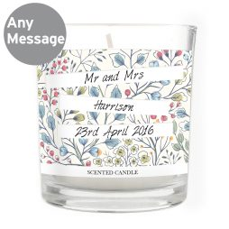 Gifts For Couples Personalised Wedding Botanical Scented Jar Candle