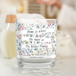 Personalised New Home Botanical Scented Jar Candle