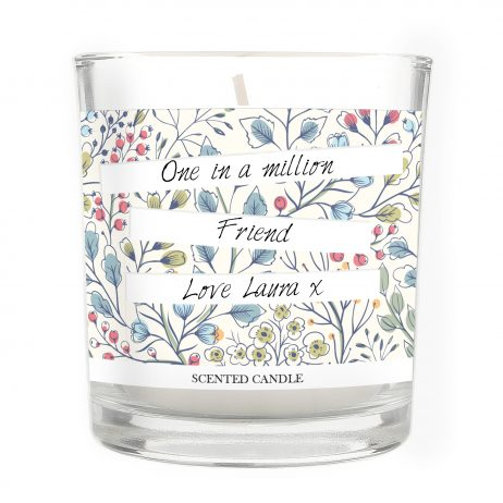 Birthday Gifts For Her Personalised Friend Botanical Scented Jar Candle