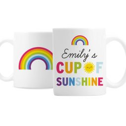 Personalised Cup of Sunshine Rainbow Mug P0805J66