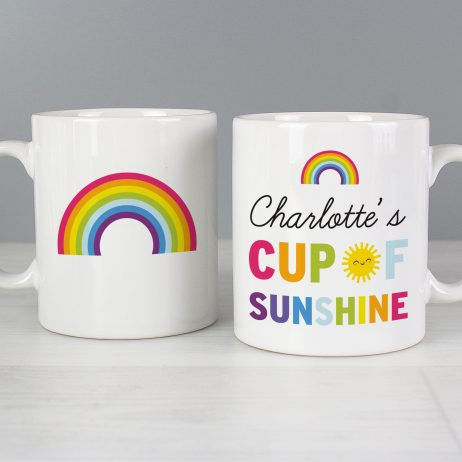 Personalised Cup of Sunshine Rainbow Mug