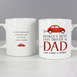 Personalised Worlds Best Taxi Driver Dad Mug P0805J70