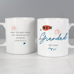Personalised New Grandad Mug P0805J72