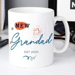 Personalised New Grandad Mug