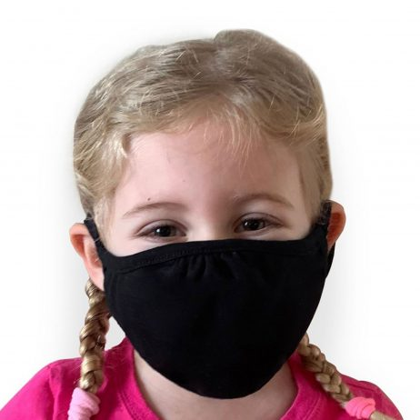 Lizzielane CV19 Eco Performance Kids Face Mask - Reusable - Black