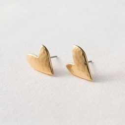 Danon Jewellery Gold True Love Stud Earrings