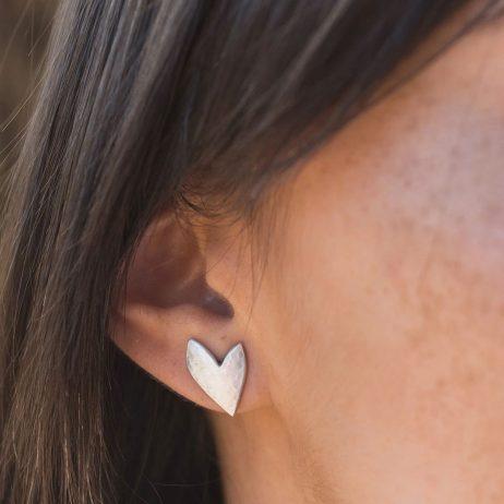 Danon Jewellery Silver True Love Stud Earrings