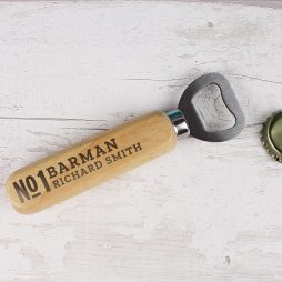 Personalised No.1 Wooden Bottle Opener P0111C41