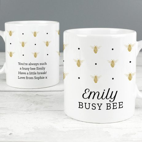 Personalised Bumble Bee Mug
