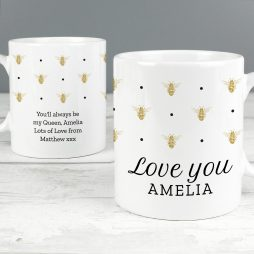 Personalised Bumble Bee Mug P0805K13