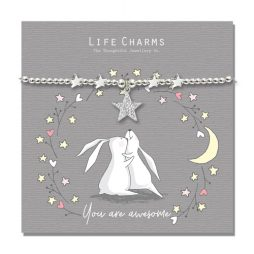 Life Charms You Are Awesome Silver Bracelet - Rosey Rabbits
