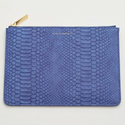Estella Bartlett Navy Snake Print Medium Pouch