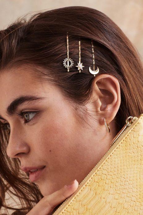 Estella Bartlett CZ Celestial Hair Slide Set Gold