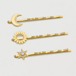 Estella Bartlett CZ Celestial Hair Slide Set Gold