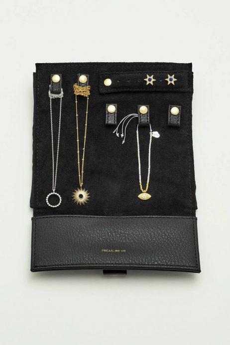 Estella Bartlett Black Mini Jewellery Roll Treasure Me