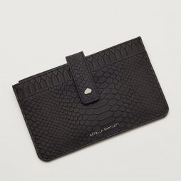 Estella Bartlett Black Snake Effect Travel Document Wallet