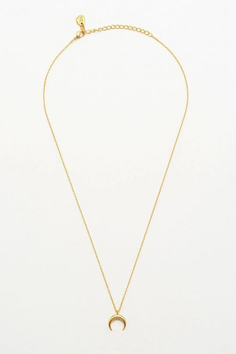Estella Bartlett Mini Horn Gold Plated Necklace
