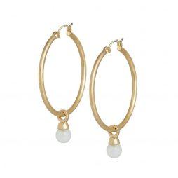 SENCE Copenhagen Aquamarine Gold Hoop Earrings