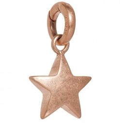 Sence Copenhagen Rose Gold Plated Solid Star Charm Pendant